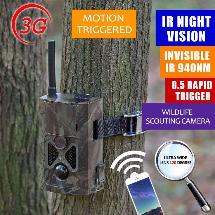 Hunting Camera 3G WCDMA Photo-traps Trail Camera 16MP Gprs Scounting Wireless Hidden Hunting Camera MMS GSM