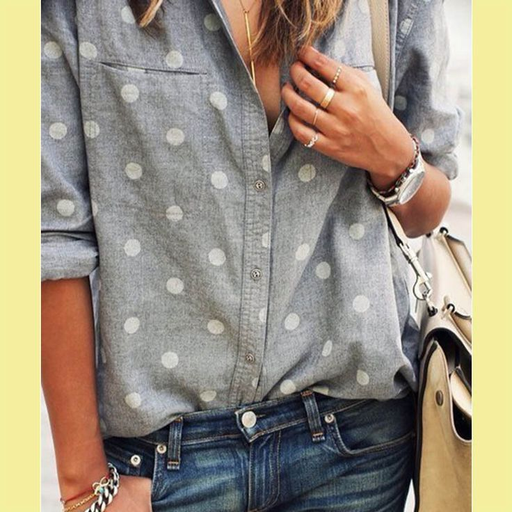 new arrival 2015 summer style fashion casual natural color blouse turn down collar polka dots half sleeve shirt outfit blouse