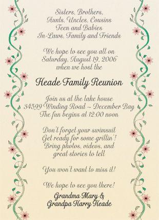 how to write a reunion invitation