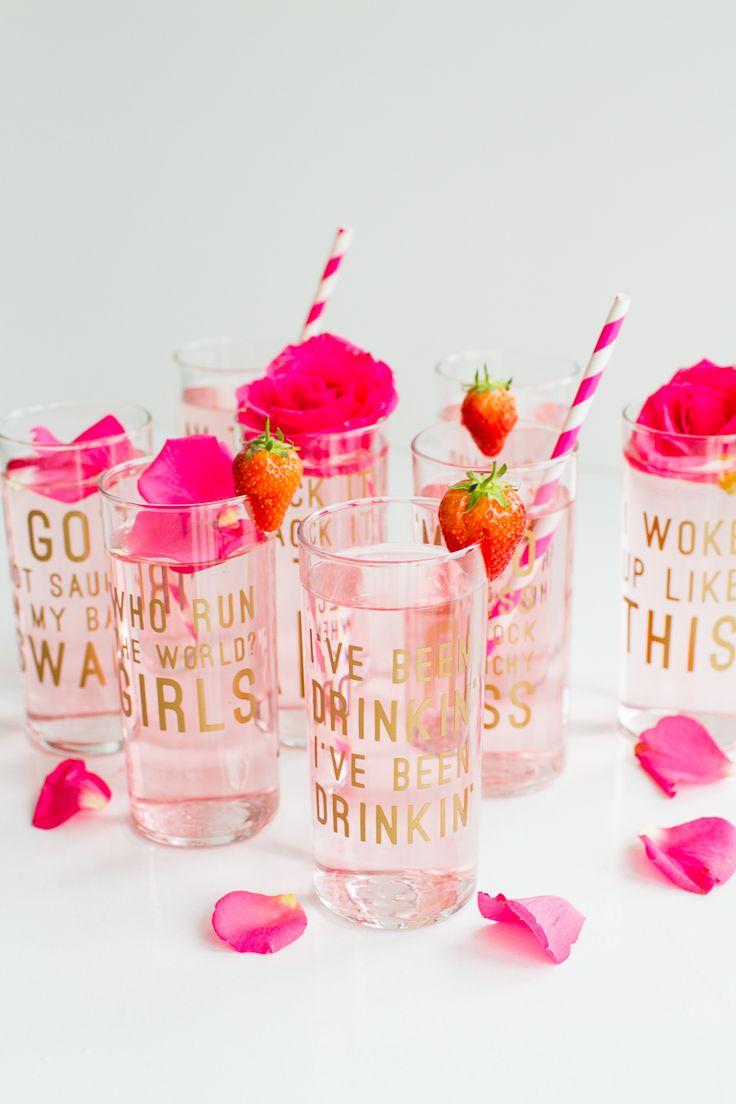 Beyonce Lemonade Lyric Quotes Glasses Cocktails Drinks Hen Party Bachelorette Song Fun Girl Power Queen B DIY Cricut Tutorial Window Cling-16