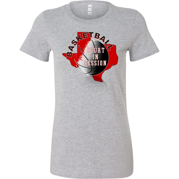 Texas Tech Basketball Court In Session Women's T-Shirt Slim Fit
