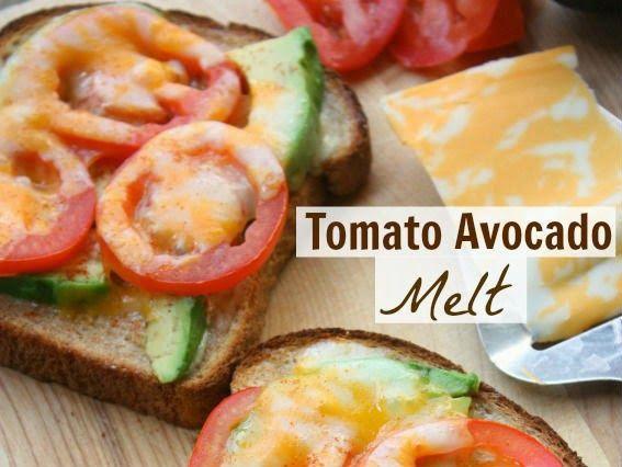 KoloDIY Food: Сырный тост с авокадо и помидорами