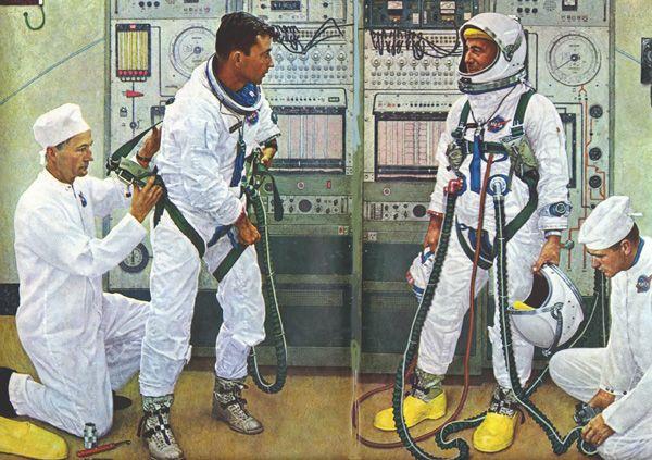A mettre dans a garde -robe, la combinaison d'astronaute - ©Norman Rockwell - 1894-1978