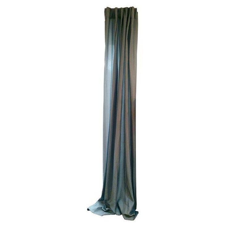 Blue Silk West Elm Curtain Panels - Set of 4 - $480 Est. Retail - $225 on Chairish.com