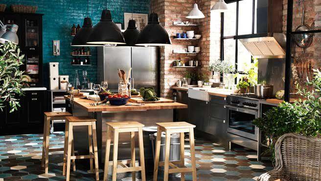 10 idées déco cuisine : sur un air de voyage // http://www.deco.fr/diaporama/photo-un-air-de-voyage-pour-la-cuisine-36810/