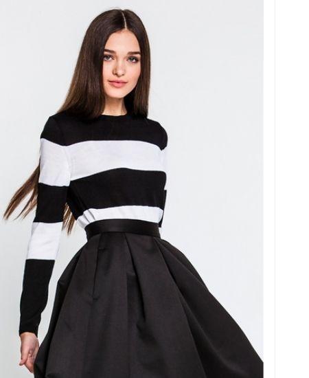 стильные черные свитера зима 2016