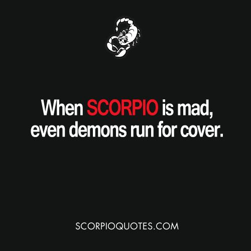when #scorpio is mad