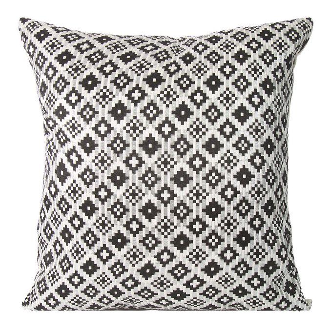 Beżowe poszewki na poduszki w czarne wzory