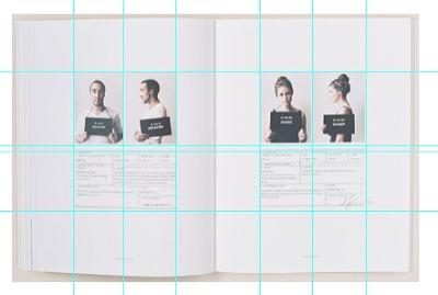 52 best magazine design images on pinterest for Table grid design