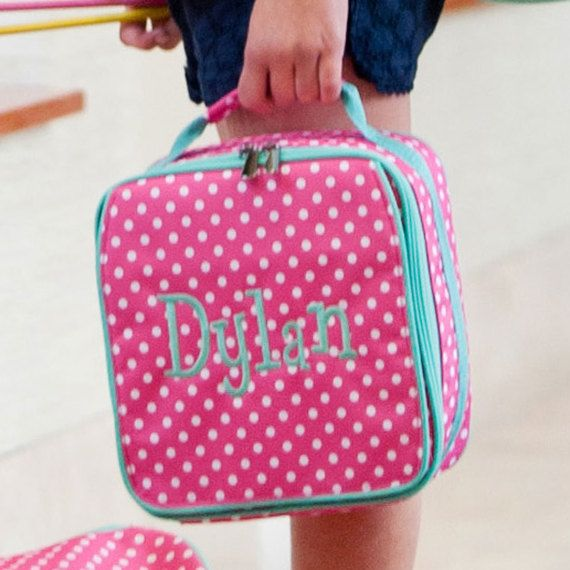 Monogrammed Lunch Box - MANY designs to choose from, preppy lunch box, girls lunch box, youth lunch box, personalized lunch bag