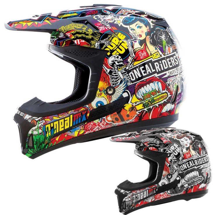 2015 Oneal 8 Series Crank Mx Dirt Bike Off-Road ATV Quad Gear Motocross Helmet