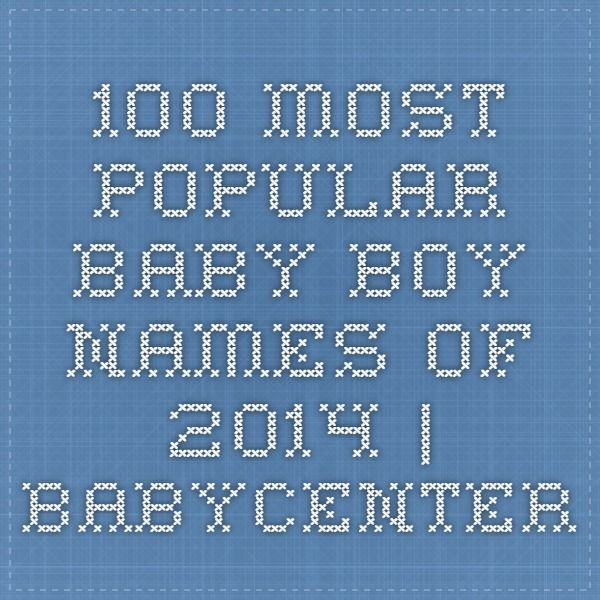 100 most popular baby boy names of 2014 | BabyCenter