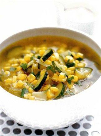 Zuppa di zucchine, mais & cumino