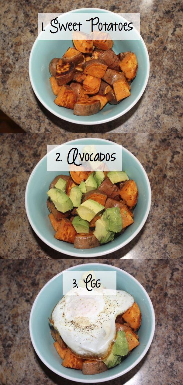 Lunch Time = Sautéed Sweet Potato + Avocado + Egg — Live...Don't Diet