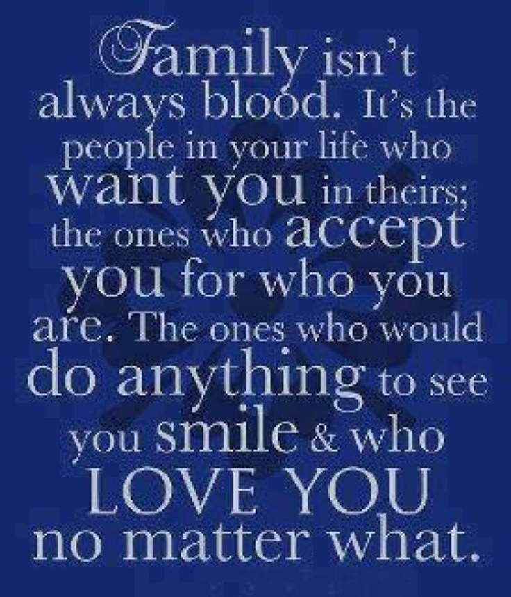 Not Blood Related Family Quotes Daily Inspiration Quotes