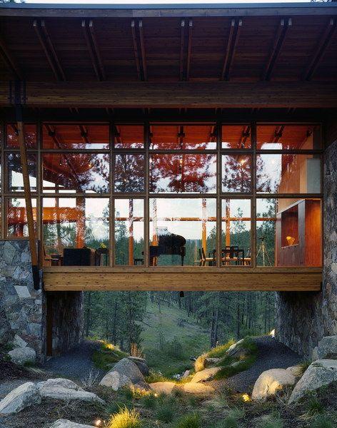 Ridge House - Tom Kundig, FAIA: Living Rooms, Dreams Houses, Rv Ideas, Ridge Houses, Window, The View, Wood Boxes, Piano Rooms, Bridge