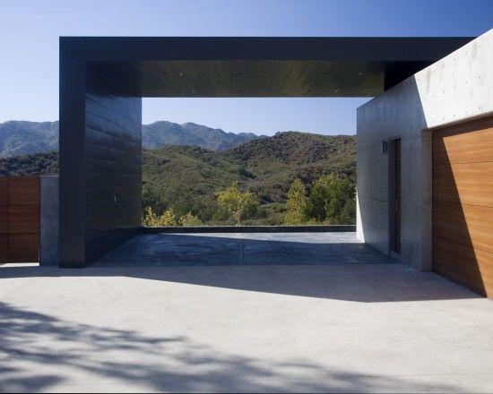 Cool modern garage..