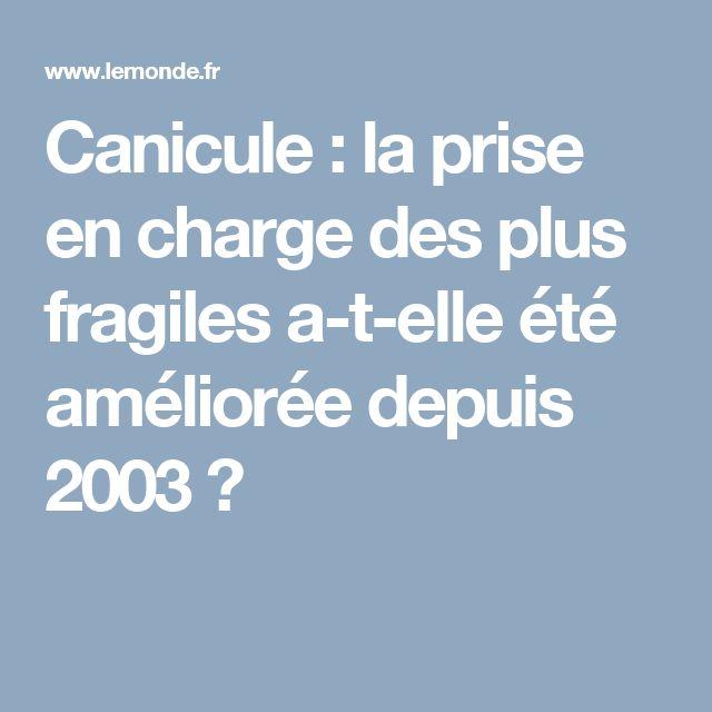 Canicule : la prise en charge des plus fragiles a-t-elle été améliorée depuis 2003 ?