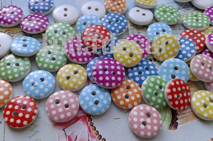 guziki w groszki lub inne ciekawe kształty/ wzory do przyozdabiania