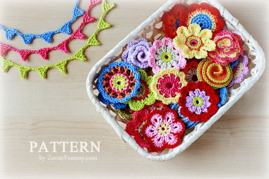 big-crochet-flower-party a collection of 10 flowers & a bunting $4.90Crochet Flowers, Crochet Flower Bunting, Big Crochet Flower Parties, Crochet Big Flower Pattern, Buntings Pattern, Minis Buntings, Crochet Pattern, Minis Flower, Flower Collection