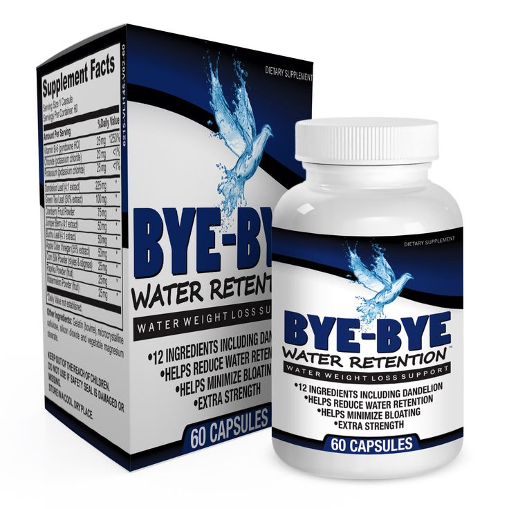 Bye-Bye Water Retention: Natural Diuretic Pills for Water Weight Loss / Bloating Relief
