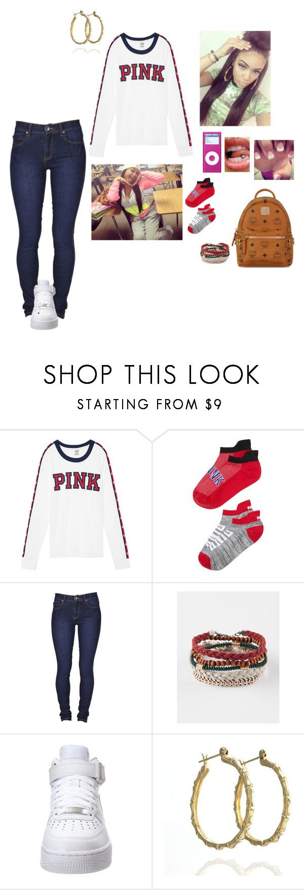 """""""Class clown😝🤡😝"""" by laylakristion on Polyvore featuring Victoria's Secret, Dr. Denim, Full Tilt, NIKE and MCM"""