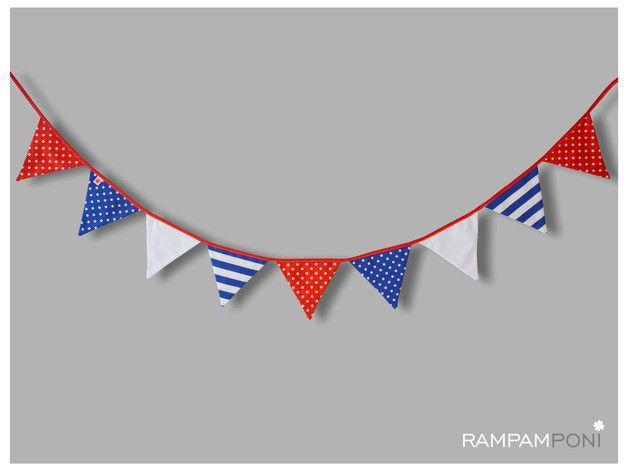 Bawełniana girlanda w stylu marynarskim - RAMPAMPONI - Dekoracje do pokoju dziecka