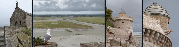 20 km from #lepascru #bedandbreakfast #Brittany #Normandy boder - #montsaintmichel #France on a stormy summers night - Saint  Aubert chapel, seagull looking out to the dam on the river Couesnon and the recently  renovated Gabriel Tower.