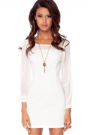 little white dress Go to the website for 5 appropriate appearances by using white colored wardrobe