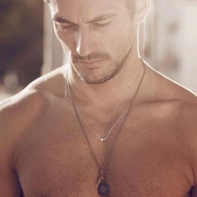 David Gandy  That necklace