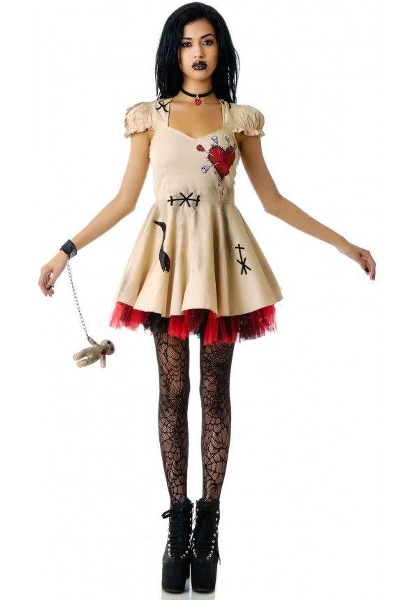 voodoo doll costumes for women   Lip Service Voodoo Doll Costume   Dolls Kill