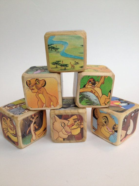 The Lion King // Childrens Book Blocks // by StorybookBlocks, $22.00