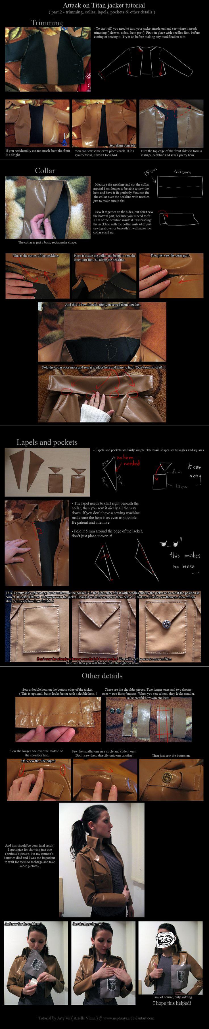 Attack on Titan jacket tutorial - details. by neptunyan.deviantart.com on @deviantART