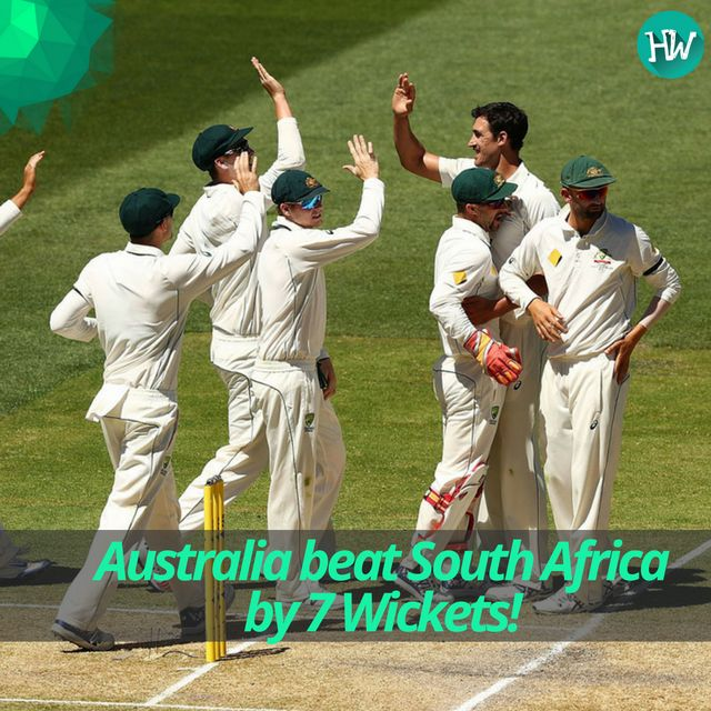 And finally, Australia have won a match in this series! An easy win in the end for the Aussies with some great teamwork. #AUSvSA #AUS #SA #cricket
