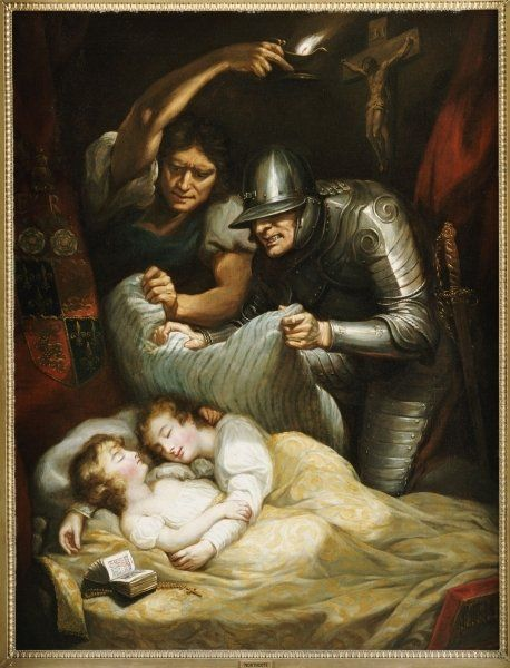 The murder of Edward V and Richard, Duke of York, as imagined in the 1786 painting by James Northcote http://simon-rose.com/books/the-sorcerers-letterbox/