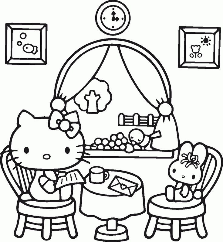 hello kitty coloring page - Hello Kitty Drawing Pictures