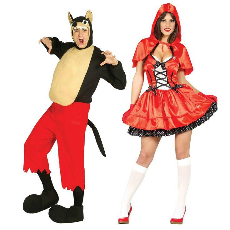 Pareja de Lobo y Caperucita #parejas #disfraces #carnaval