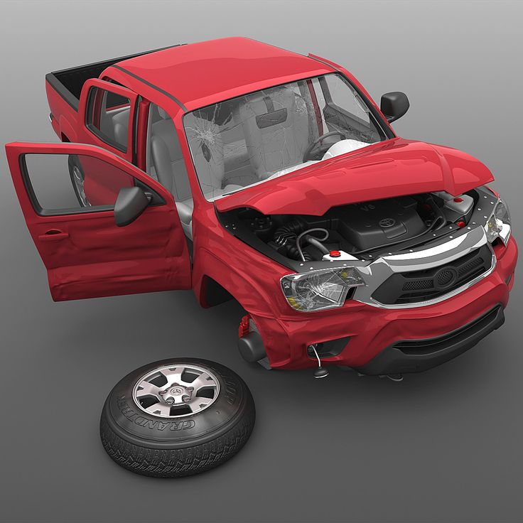 Toyota Tacoma 2012 Crushed 3Ds - 3D Model