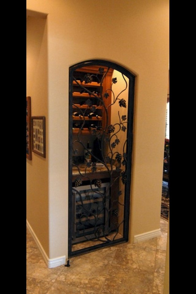 Transform your coat closet into a mini wine cellar- Have a coat or utility closet you aren't using? Repurpose it as a wine cellar, complete with storage space and a small bar for serving. A gate-inspired door adds a gorgeous touch, or you can simply leave the space open for easier access. Have fun as you design, and get ready to pour your wine in style