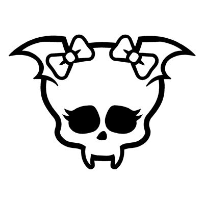 Monster High Draculaura Skullette Wall Auto Sticker Decal U