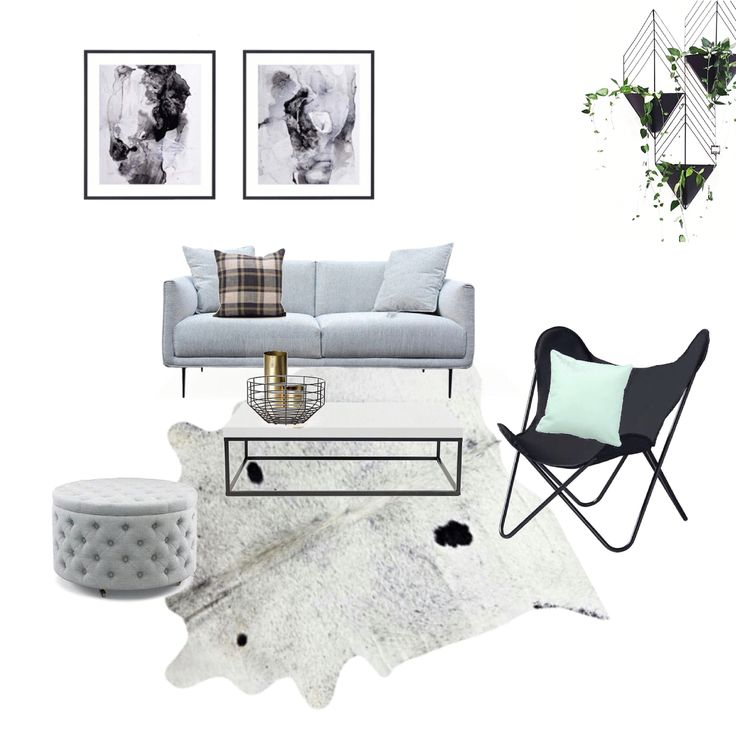Mood board living room concept by hooked on interiors