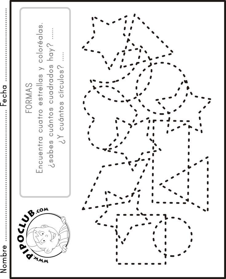 M s de 25 ideas incre bles sobre figuras geometricas para for Actividades para jardin de infantes para imprimir