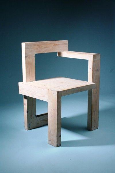 Steltman chair designed by Gerrit Rietveld for G. van de Groenekan