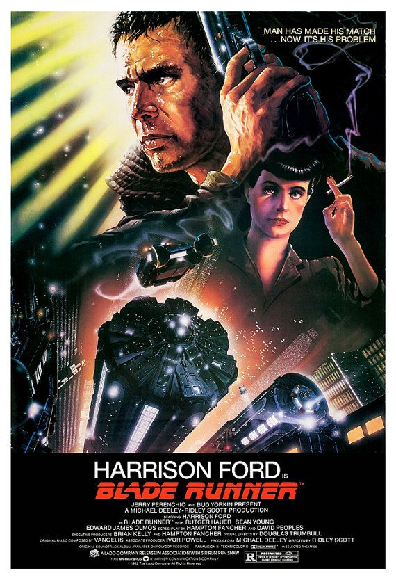 Blade Runner  Sci Fi Movie Poster Print  13x19  Home by jangoArts