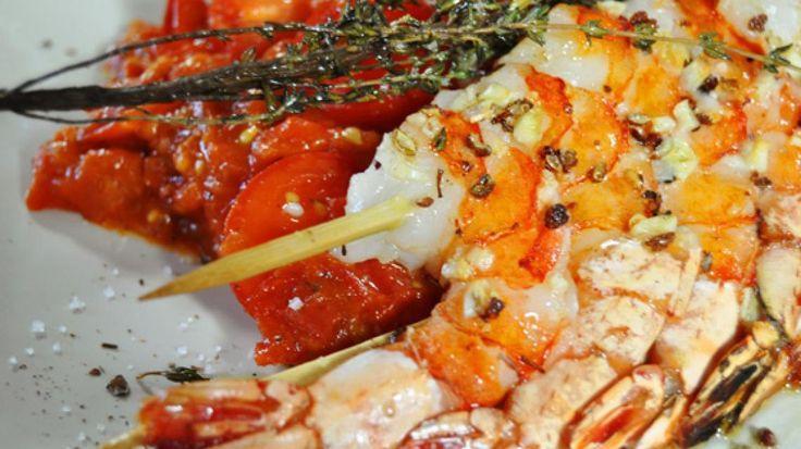 Scampi met rijke tomatensaus | VTM Koken