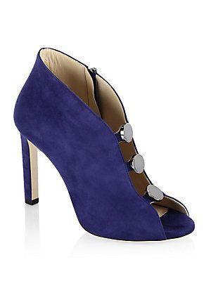 840a8397351 ... shoes. Jimmy Choo Lorna 100 Suede Peep Toe Booties  jimmychooheelssuede