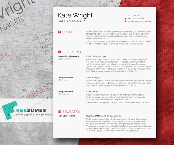 62 Best Free Resume Templates For Word Images On Pinterest
