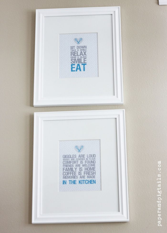 Free Kitchen Art Printables From Paper And Pigtails