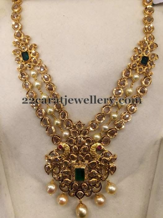 Jewellery Designs: Pearls Pachi Necklace 3 Steps