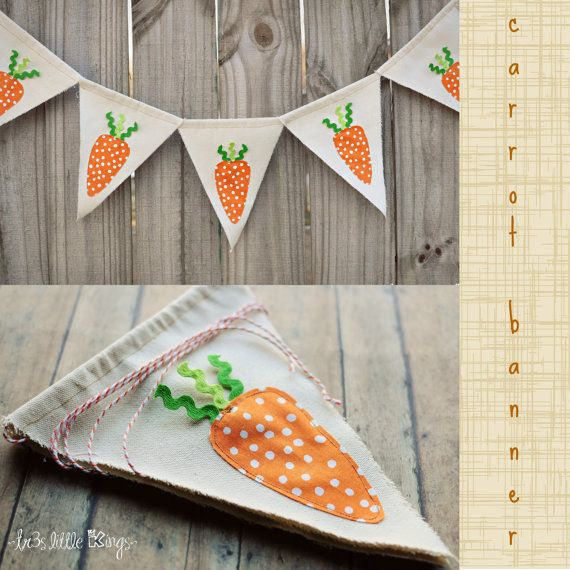 Easter banner carrots RTS,Easter carrot garland,Easter props, Easter pennant, Easter decorations- Orange,green- Ready to Ship. on Etsy, $22.00
